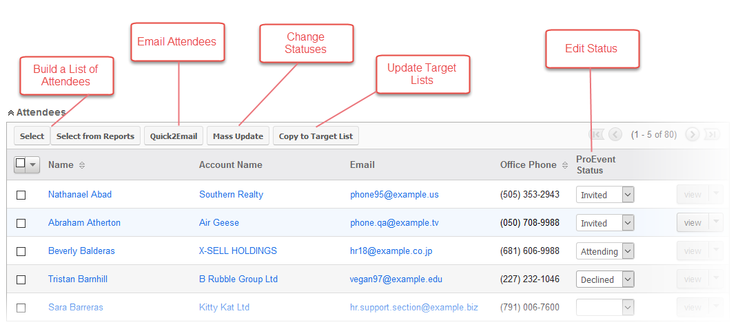 Attendee Management in SugarCRM