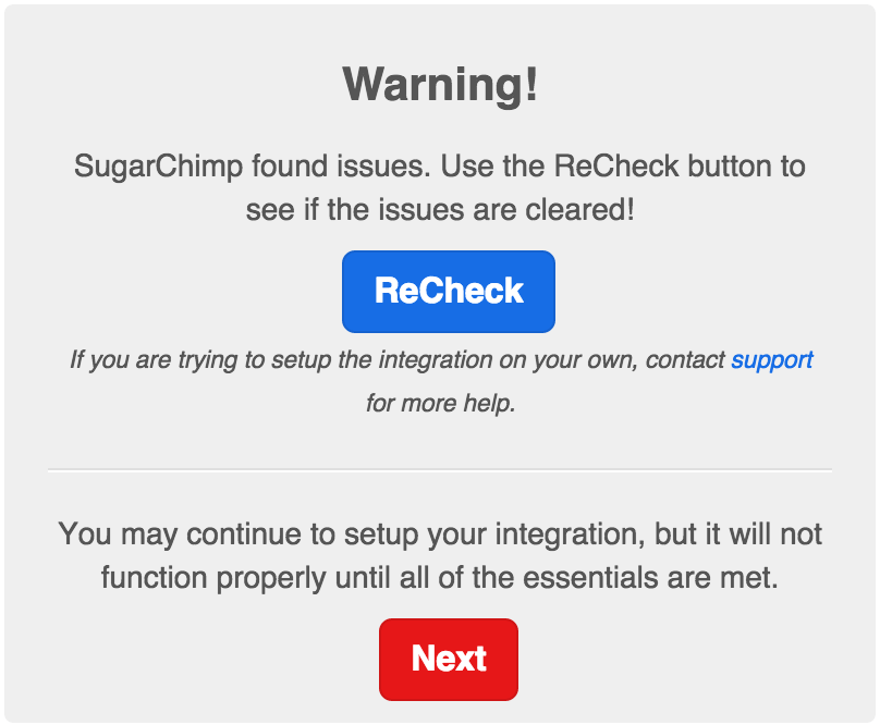 sugarchimp-precheck-success