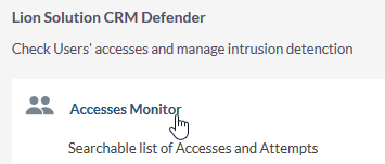 Access Monitor link