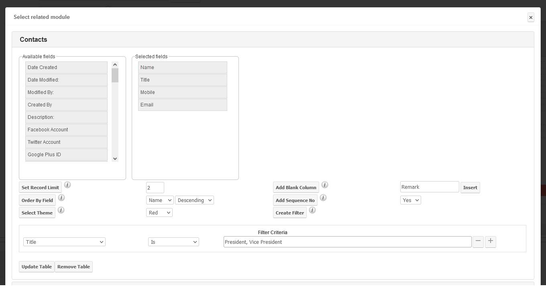 DocParser option at relationship data