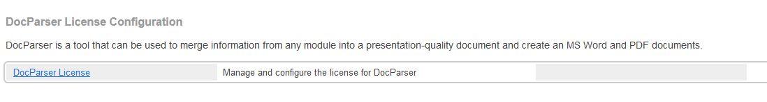 DocParser License Configuration