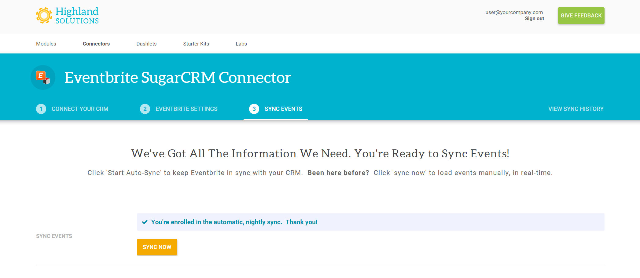 Sync Events Between Eventbrite and SugarCRM