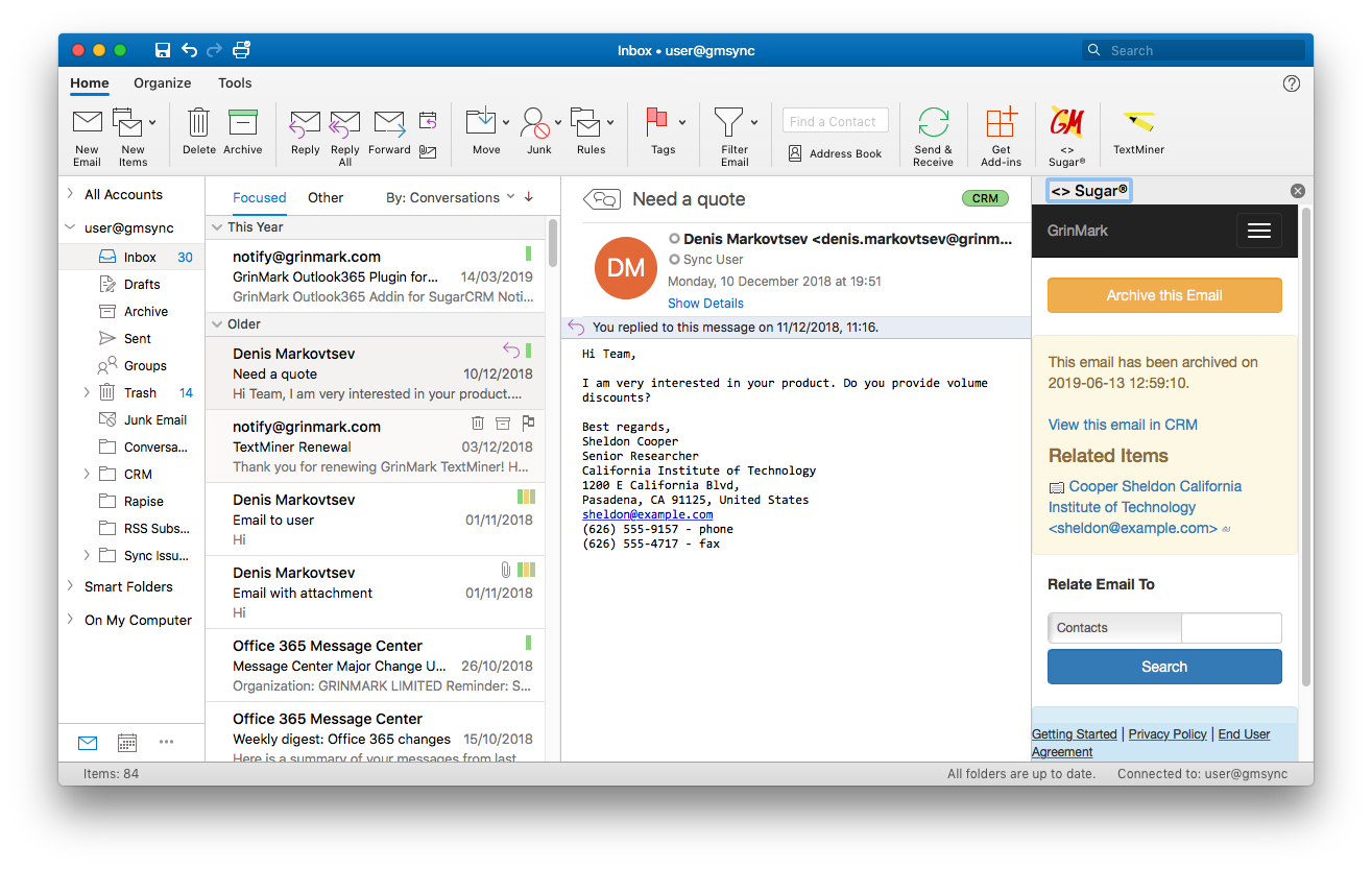 Outlook Mac After Email Archiving