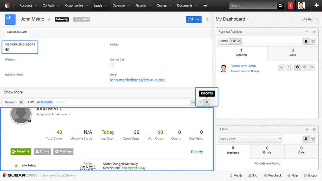 Marketing Automation for SugarCRM