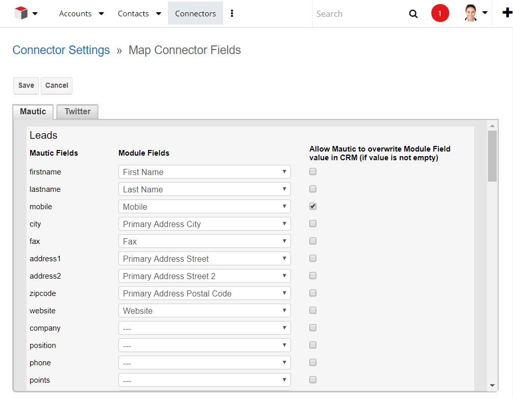 Configuration Guide | Sugar/SuiteCRM & Mautic Integrator