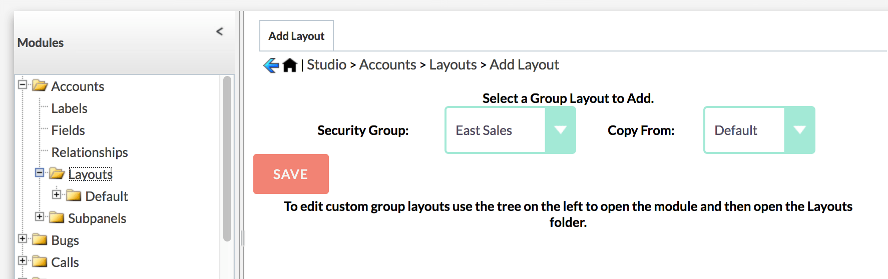 Create Custom Group Layout