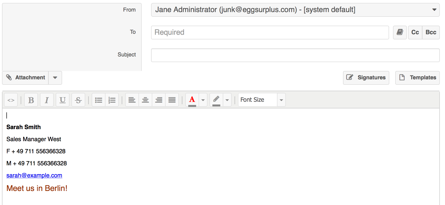 how to create email signature on webmail