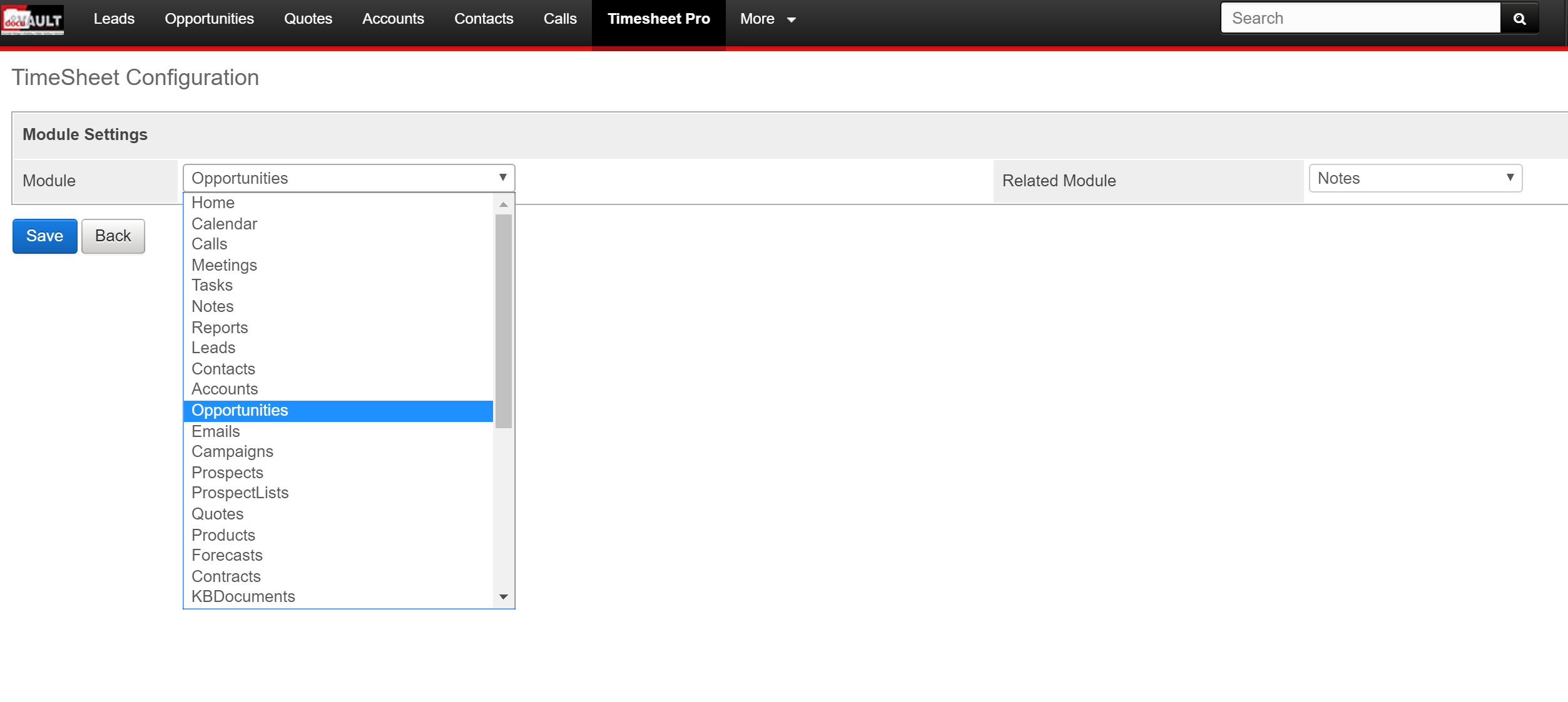 timesheet ninja for sugarcrm sugarcrm module