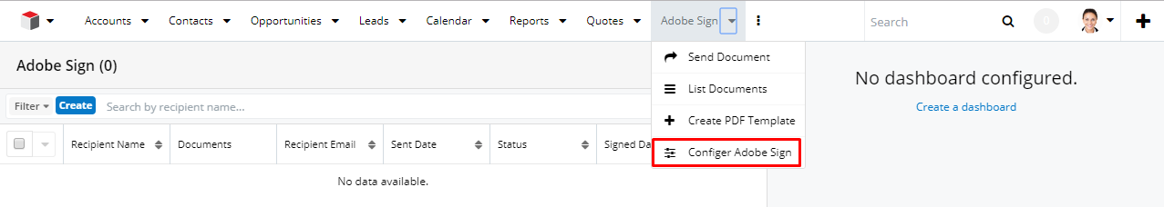 SugarAdobeSign Personal Configuration
