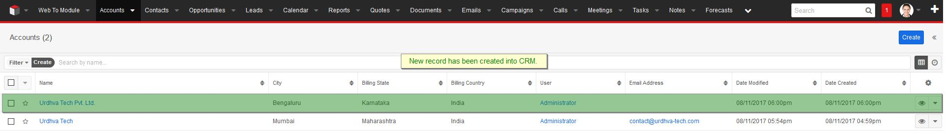 New record in CRM