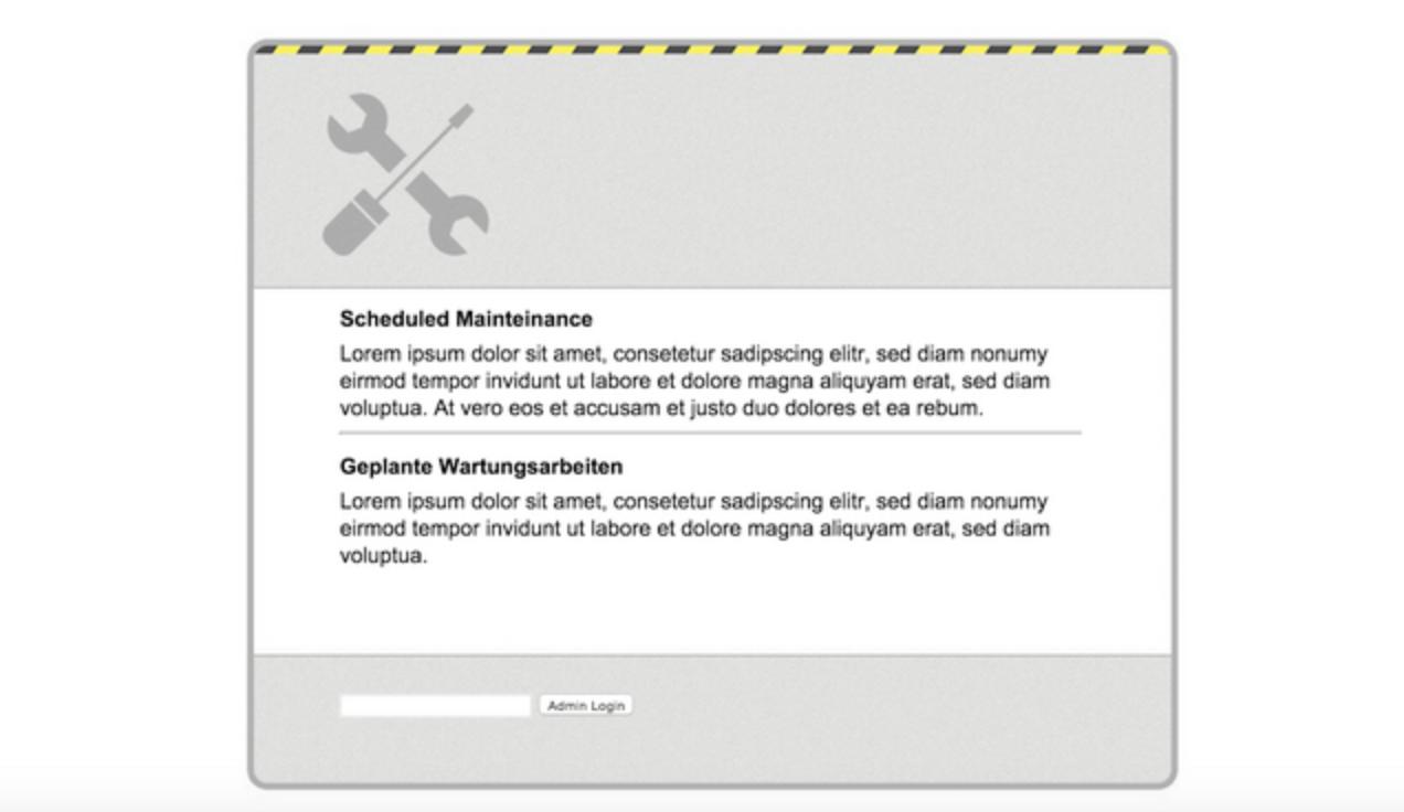 Maintenance Mode Module for SugarCRM