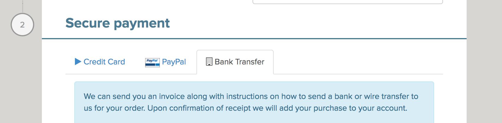 Bank Transfer Payment Method