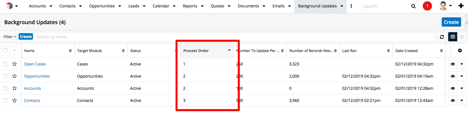 Background Calculation Updates in SugarCRM