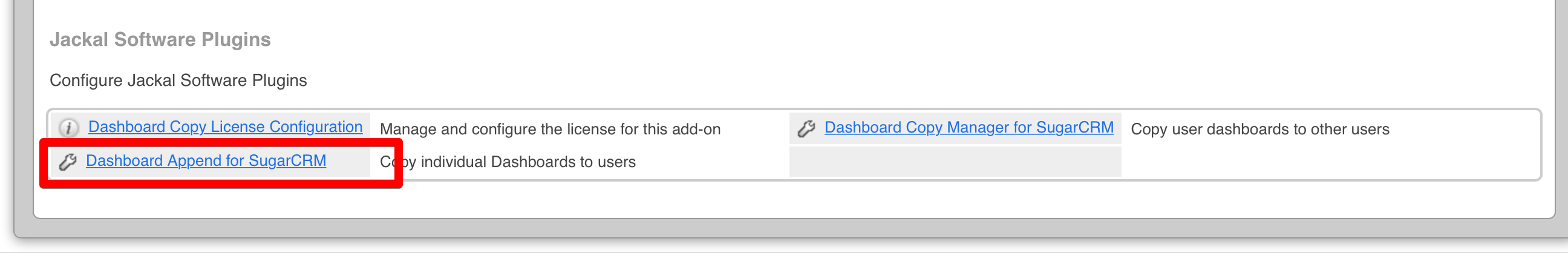 Navigate to Dashboard Append