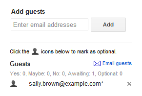 how to send meeting request in gmail calendar