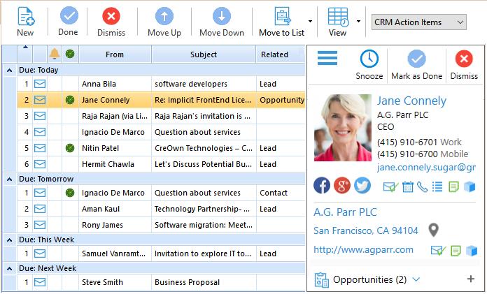 SugarCRM Enterprise-Class Outlook Plugin