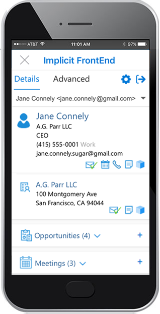 Outlook Plugin for iOS, Android & OWA for SugarCRM