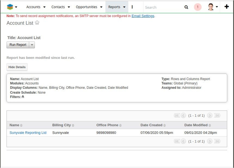 Access reports using the SM Dynamic Target List add-on for SugarCRM