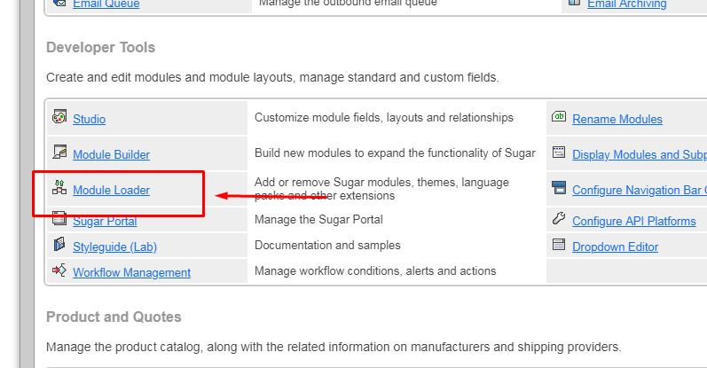 SugarActiveCampaign for SugarCRM module loader configuration