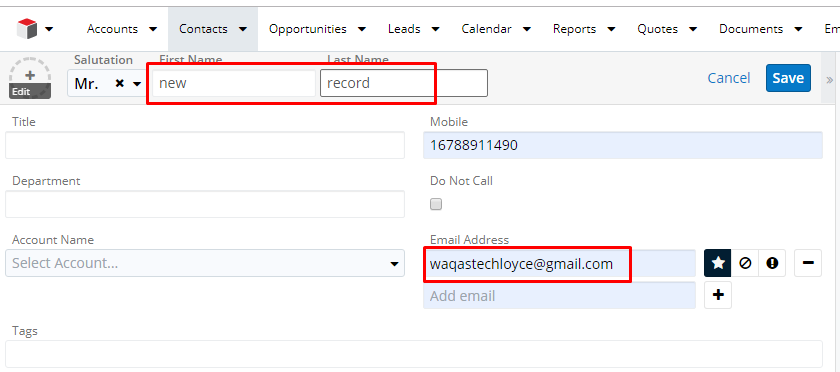 Synced records in SugarCRM
