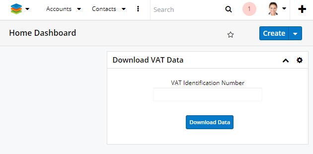 SugarCRM & VIES Integrator dashboard validation