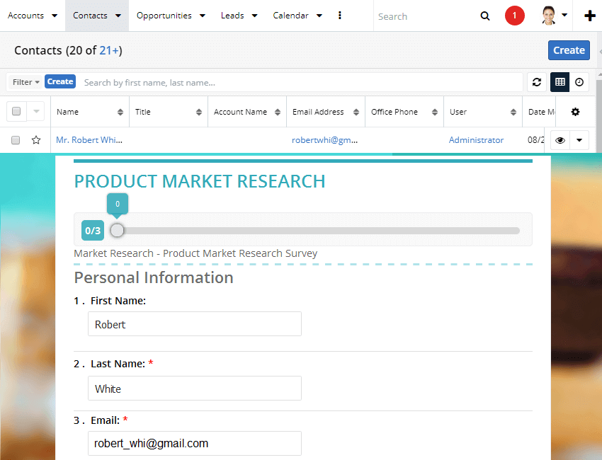 Data Piping in a SugarCRM Survey Tool