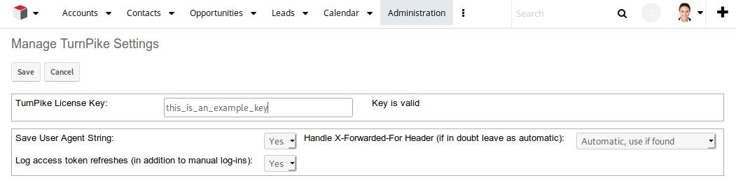 TurnPike login configure